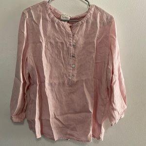 Nicole Miller 100% linen shirt 💰